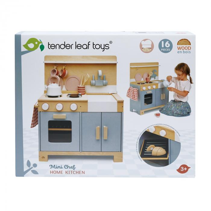 Bucatarie din lemn pentru copii, Mini Chef Home Kitchen, 16 piese 6
