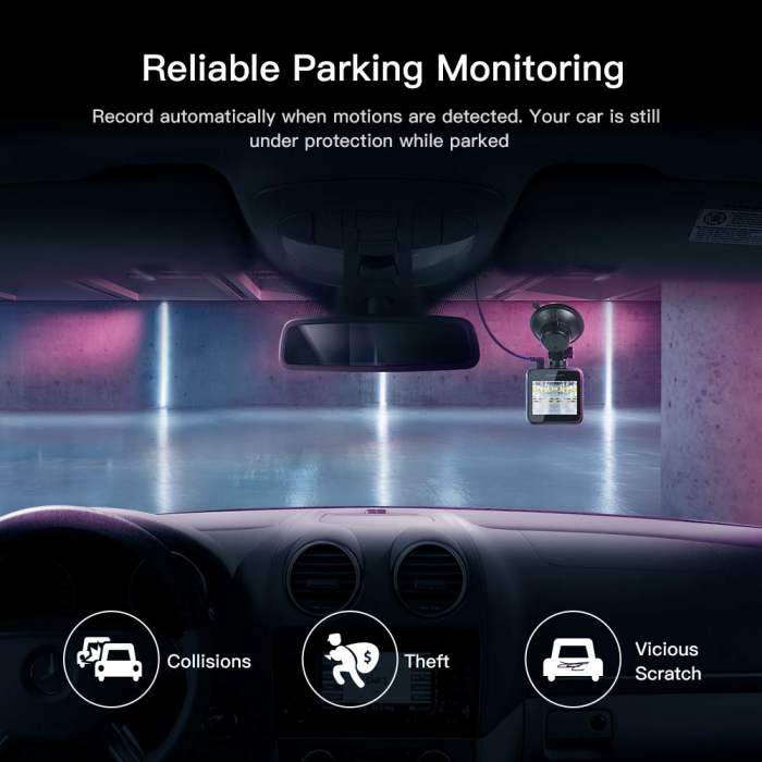 Camera auto DVR Apeman C420, Full HD, G-Sensor, Mod parcare, Filmare in bucla 5
