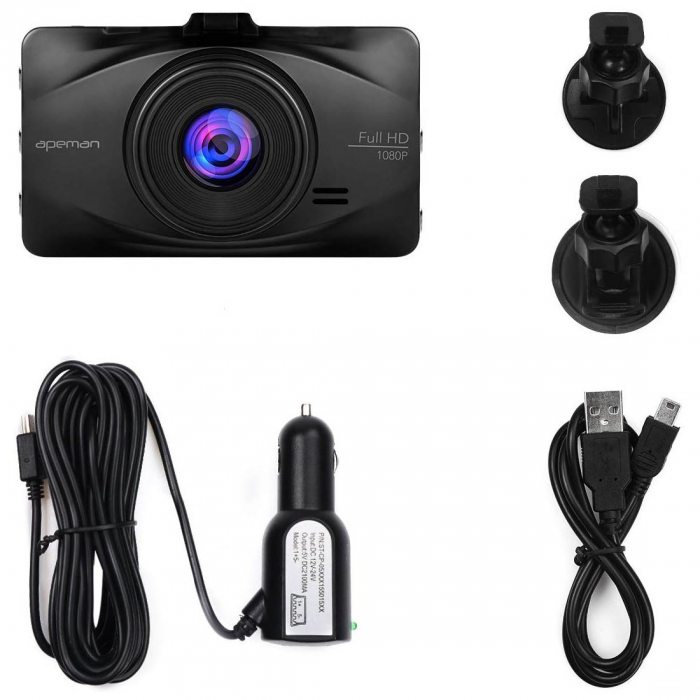 Camera auto DVR Apeman C450, Full HD, G-Sensor, Mod parcare, Filmare in bucla 9