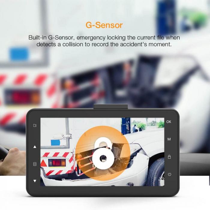 Camera auto DVR Apeman C450, Full HD, G-Sensor, Mod parcare, Filmare in bucla 2