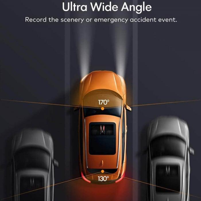 Camera auto DVR Dubla Apeman C550, Full HD, Bord si Spate, Detector miscare, Mod parcare, Filmare in bucla 3