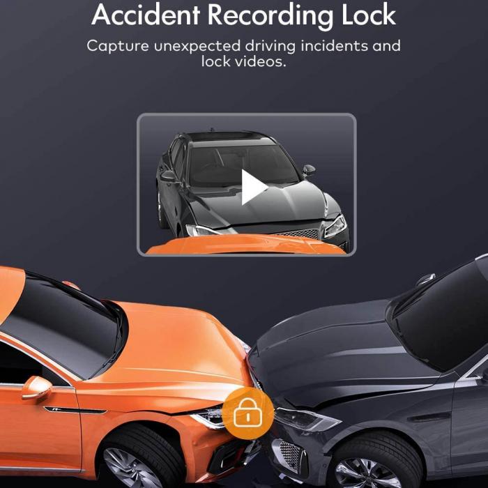 Camera auto DVR Dubla Apeman C550, Full HD, Bord si Spate, Detector miscare, Mod parcare, Filmare in bucla 4
