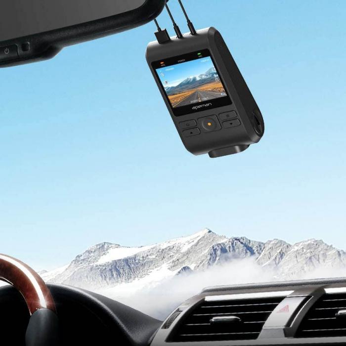 Camera auto DVR Dubla Apeman C550, Full HD, Bord si Spate, Detector miscare, Mod parcare, Filmare in bucla 0
