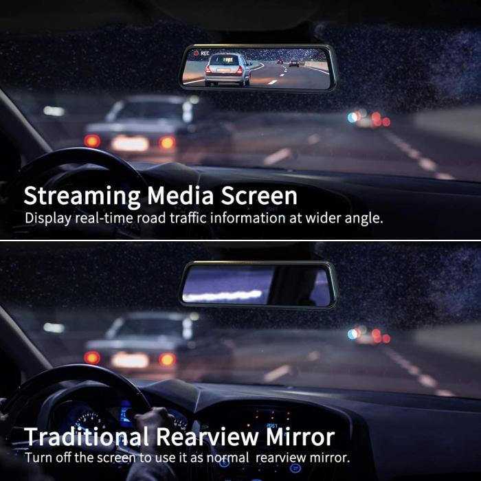 Camera auto DVR Dubla Oglinda VanTop H610, 2.5K, Bord si Spate, Touch-Screen, Senzor Sony IMX 335 5