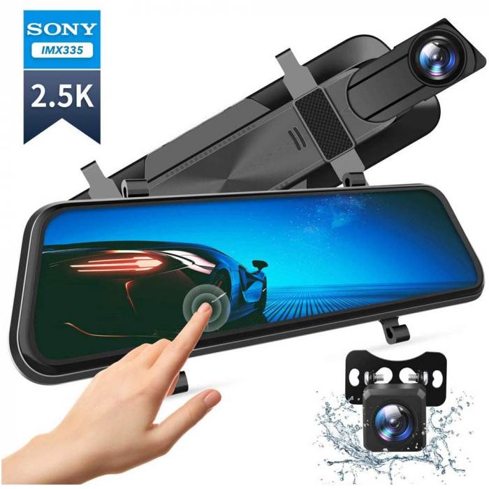 Camera auto DVR Dubla Oglinda VanTop H610, 2.5K, Bord si Spate, Touch-Screen, Senzor Sony IMX 335 1