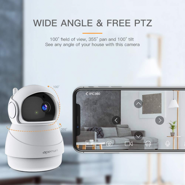 Camera supraveghere Wireless Apeman ID73, Full HD, Infrarosu 1