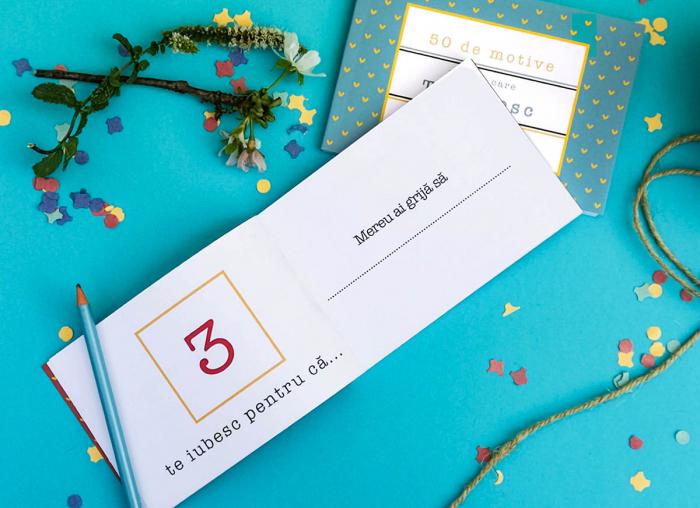 Carte cadou Iubit 50 Motive pentru care te iubesc 2