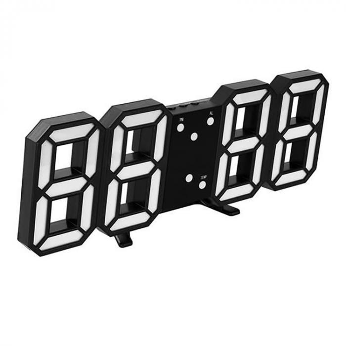 Ceas de perete digital cu termometru si data 4