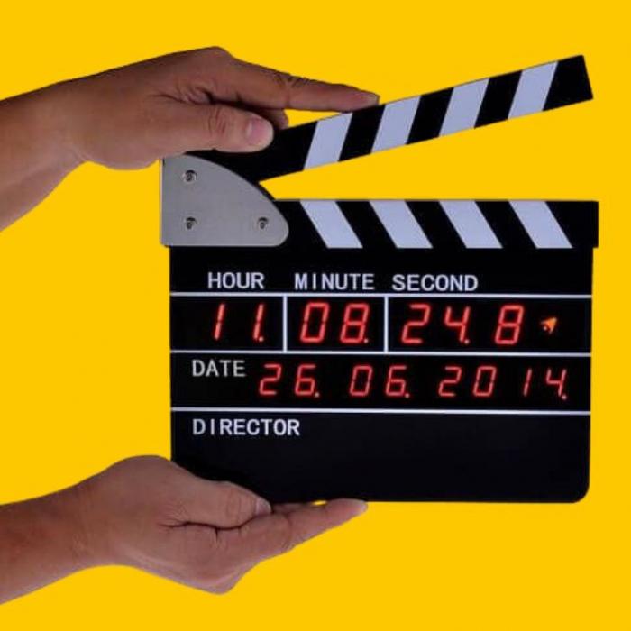 Ceas digital clacheta regizor 0
