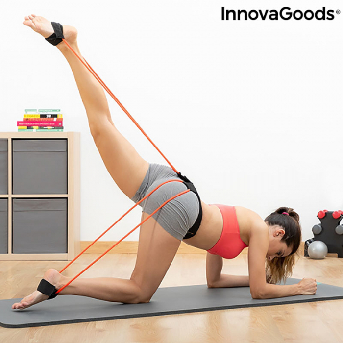 Centura cu benzi de rezistenta pentru fitness, ghid exercitii fizice 1