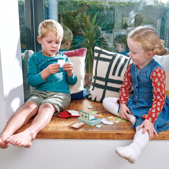 Cititor de carduri jucarie din lemn premium, 21 piese 1