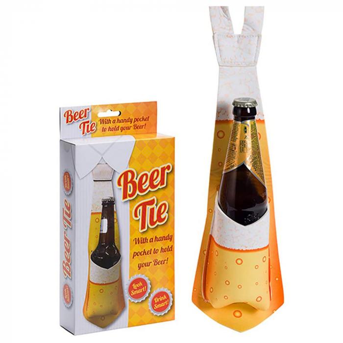 Cravata cu buzunar pentru sticla de bere 1