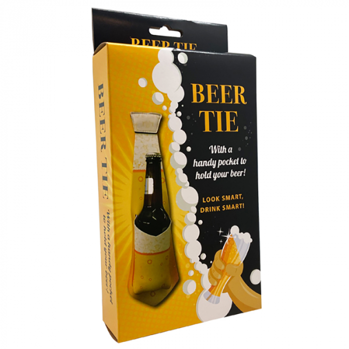 Cravata cu buzunar pentru sticla de bere 2