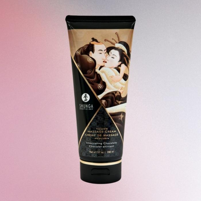 Crema de masaj Shunga cu aroma de ciocolata 0
