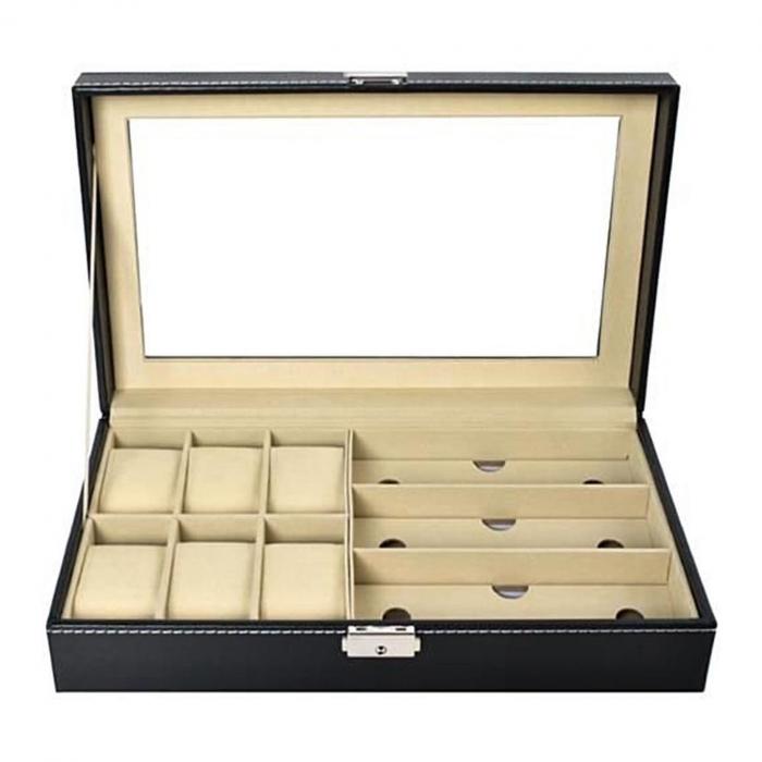 Cutie ceasuri, bijuterii si ochelari, cheita inclusa 1