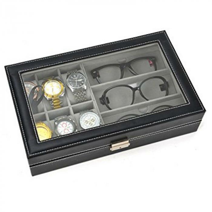 Cutie ceasuri, bijuterii si ochelari, cheita inclusa 4