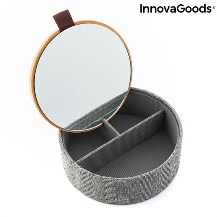 Cutiuta de bijuterii Bamboo cu oglinda 5