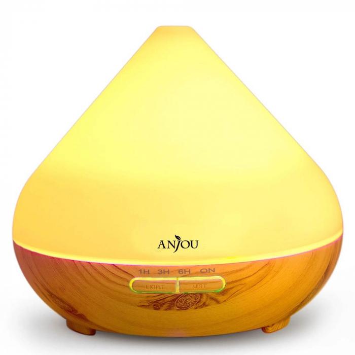 Difuzor aromaterapie AJ-AD001, 300ml, LED 7 culori 6