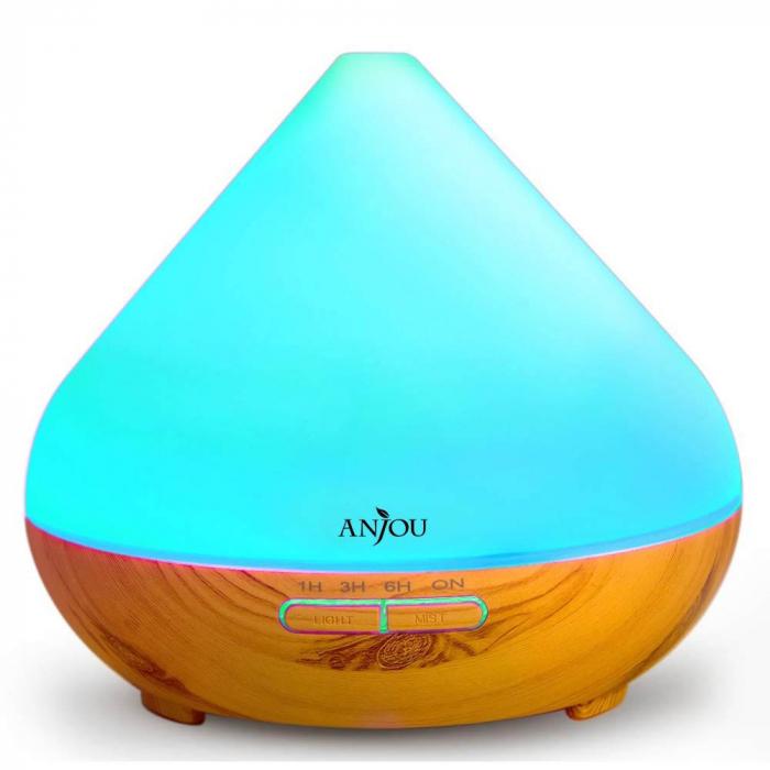 Difuzor aromaterapie AJ-AD001, 300ml, LED 7 culori 7