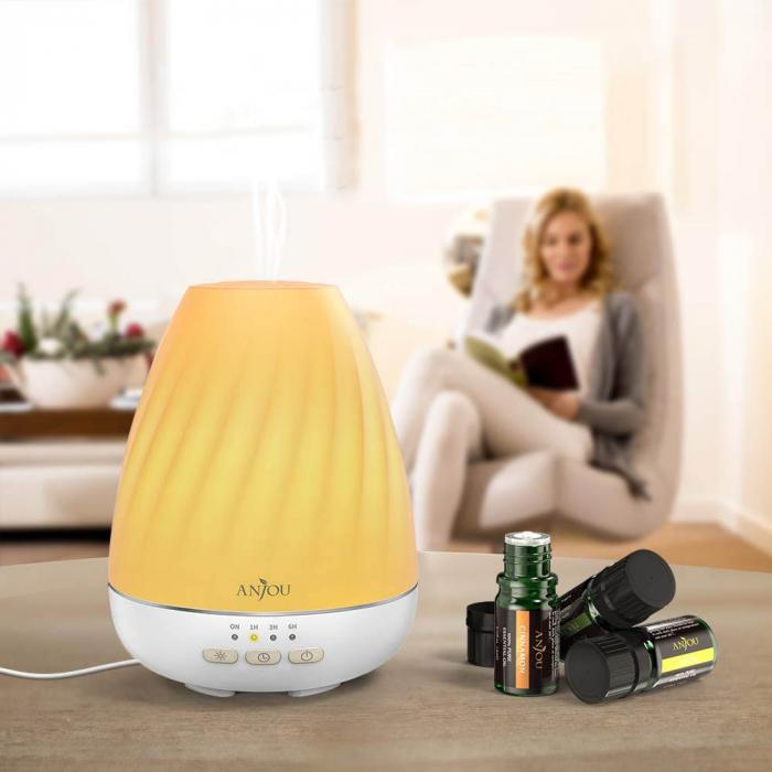 Difuzor aromaterapie Anjou ADA003, 200ml, LED 7 culori 0