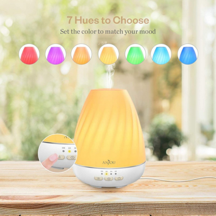Difuzor aromaterapie Anjou ADA003, 200ml, LED 7 culori 1