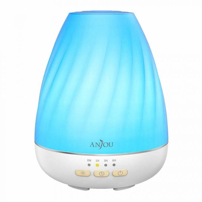 Difuzor aromaterapie Anjou ADA003, 200ml, LED 7 culori 6
