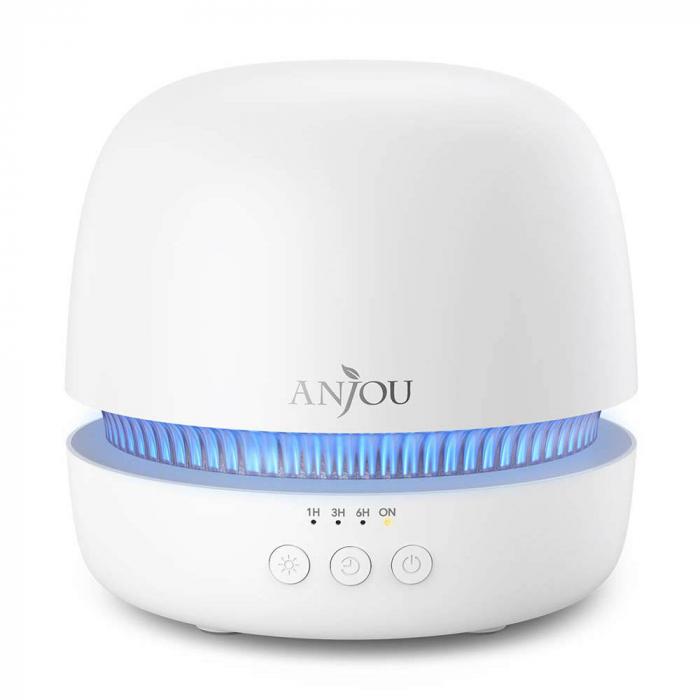 Difuzor aromaterapie uleiuri esentiale Anjou AJ-ADA019, 300ml, LED 7 culori 6