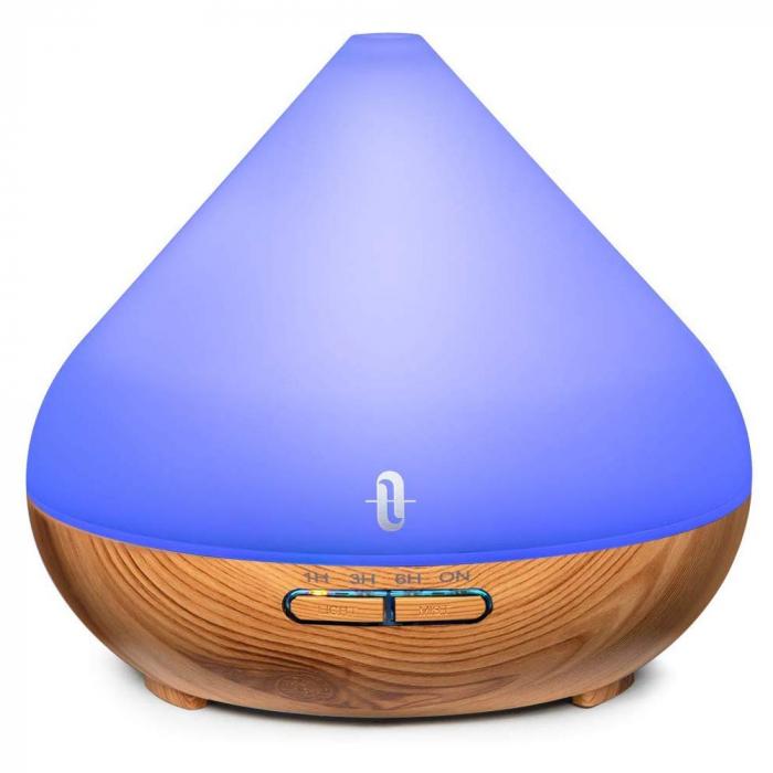 Difuzor aromaterapie uleiuri esentiale cu Ultrasunete TaoTronics, LED 7 culori 9