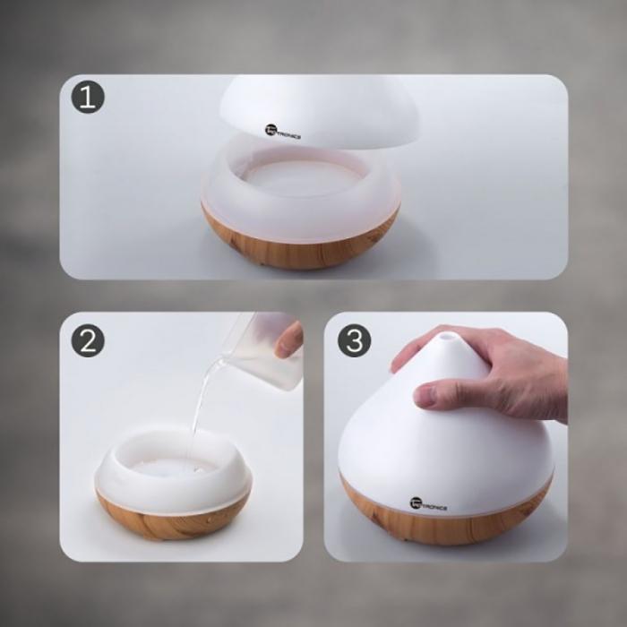 Difuzor aromaterapie uleiuri esentiale cu Ultrasunete TaoTronics, LED 7 culori 5