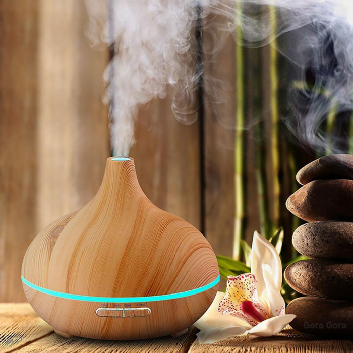 Difuzor Aromaterapie uleiuri esentiale 7 culori, 400 ml [2]