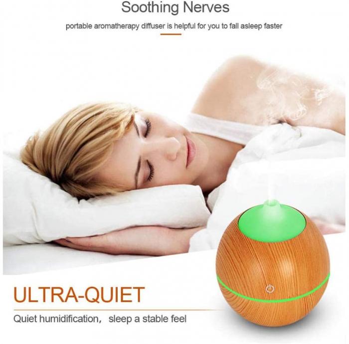 Difuzor Aromaterapie uleiuri esentiale lacrima 7 culori, 130 ml 1