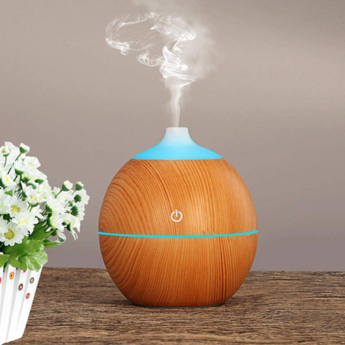 Difuzor Aromaterapie uleiuri esentiale lacrima 7 culori, 130 ml 0