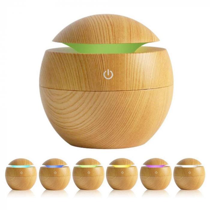Difuzor Aromaterapie uleiuri esentiale sfera 7 culori, 130 ml [6]