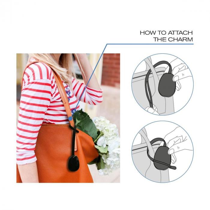 Dispozitiv alarma si localizare pentru poseta, Elle Protective Bag Charm 4
