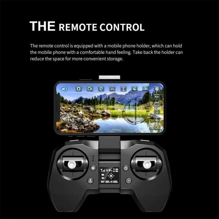 Drona Smart Visuo cu gps, Follow-Me, camera 4K cu transmisie live pe smartphone 9