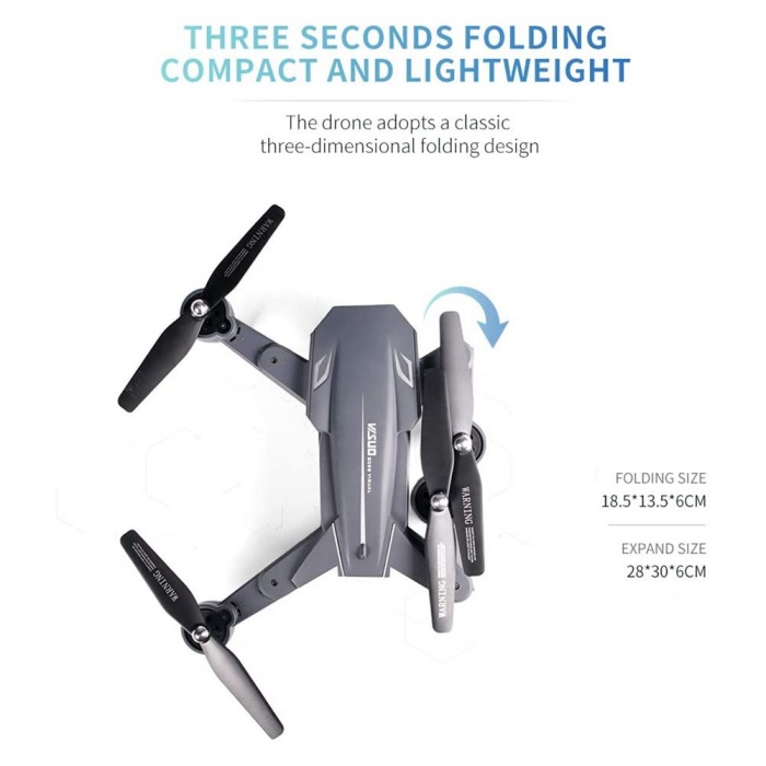 Drona Visuo XS816, Camera 4K cu transmisie pe telefon 4
