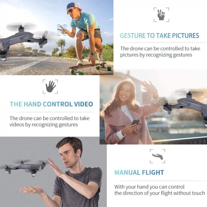 Drona Visuo XS816, Camera 4K cu transmisie pe telefon 1