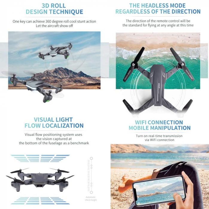Drona Visuo XS816, Camera 4K cu transmisie pe telefon 2