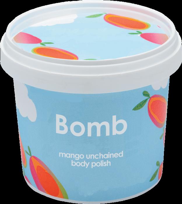 Exfoliant corp particule fine Mango Unchained Bomb Cosmetics 1