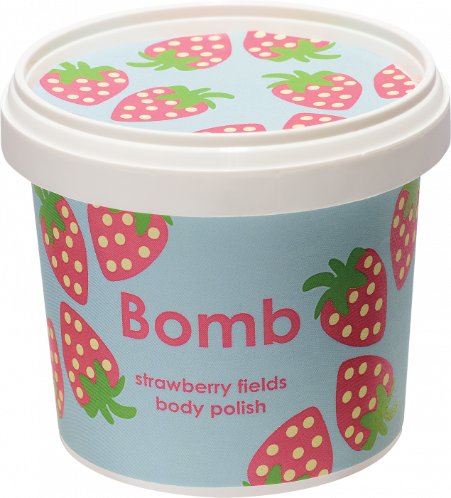 Exfoliant corp particule fine Strawberry Fields Bomb Cosmetics 2