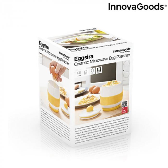 Fierbator oua la microunde, din ceramica, retete incluse 6