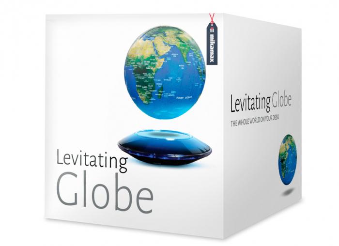Glob magnetic plutitor cu iluminare LED XXL 2