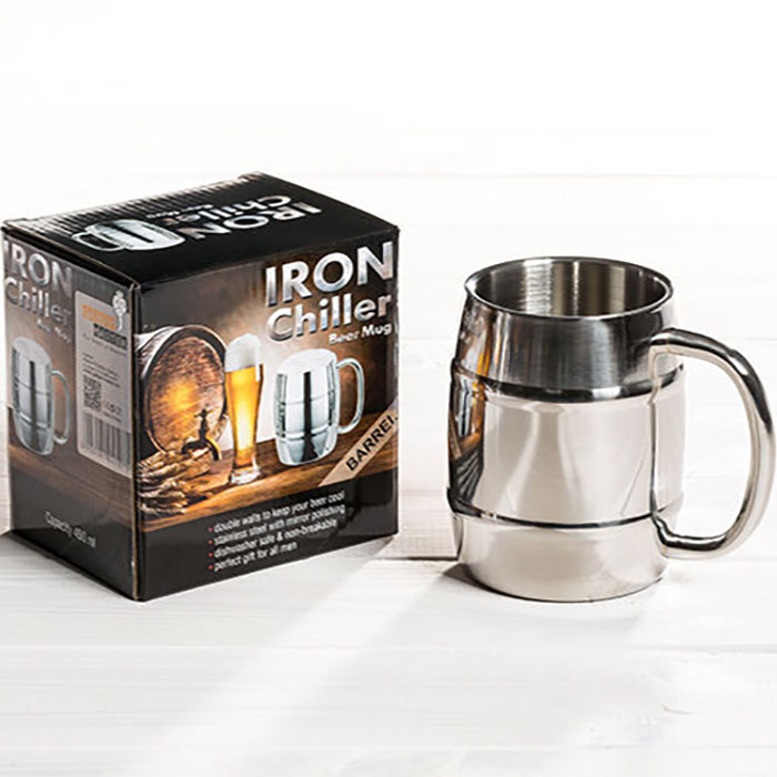 Halba de bere cu racire Iron Chiller, 400 ml 7