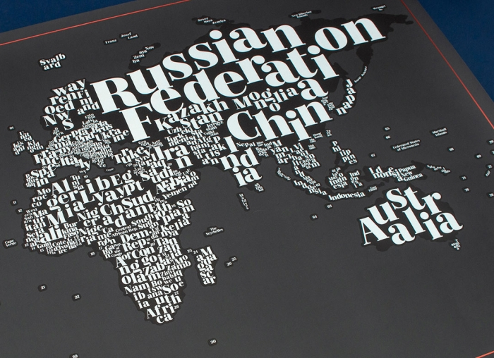 Harta razuibila Typogeography 2