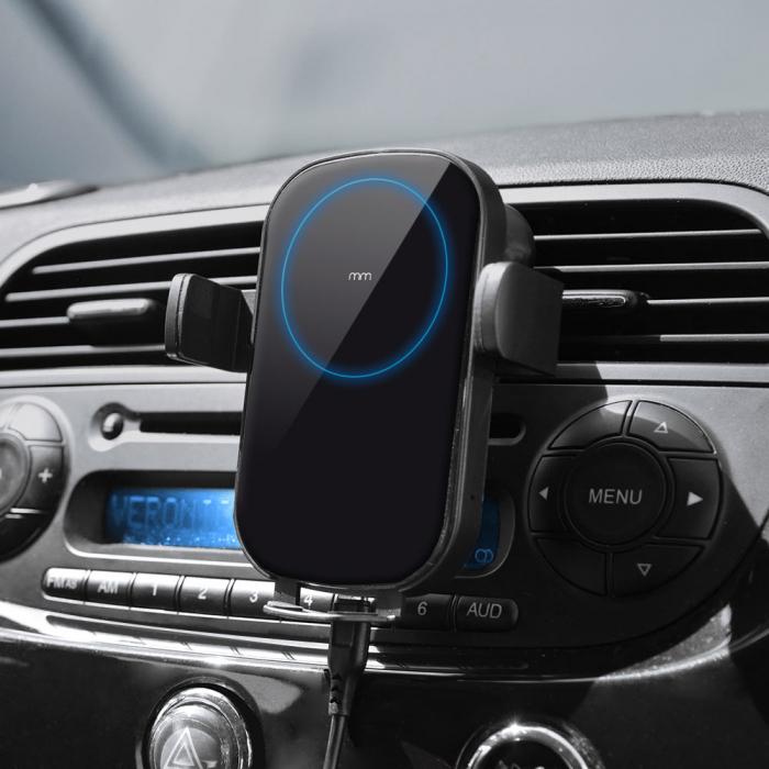 Incarcator telefon auto wireless cu fixare automata 0