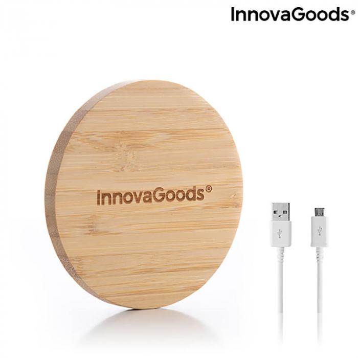 Incarcator wireless din bambus [6]