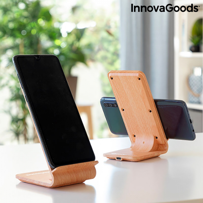 Incarcator wireless smartphone, cu stand vertical 1