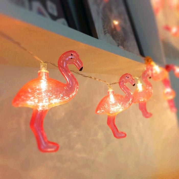 Instalatie de lumini Flamingo Roz 0