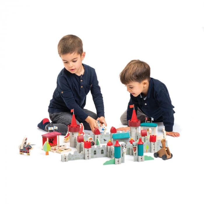 Joc de construit Castelul Royal, lemn premium, 100 piese 4