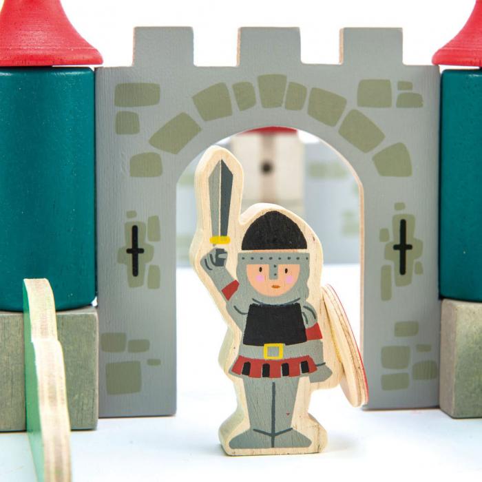 Joc de construit Castelul Royal, lemn premium, 100 piese 2